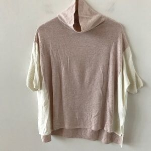 RW & Co pink and ivory sweater